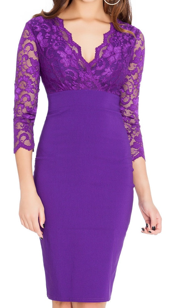 Ex Chainstore Deep Purple Midi Dress, £6.00pp